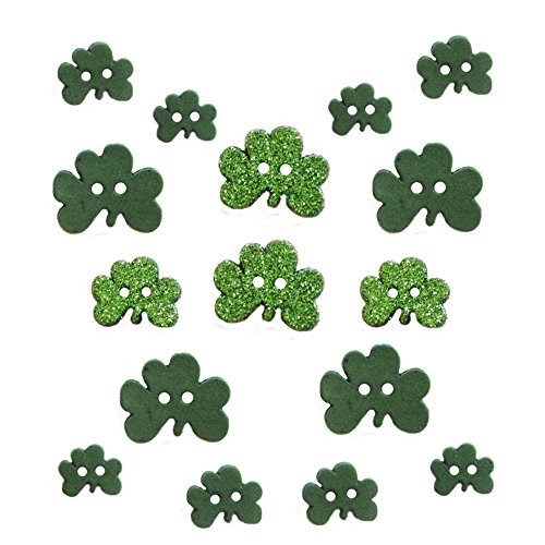 sewing buttons shamrock - 2