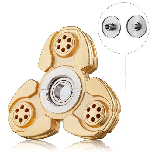 Musttrue Russia CKF Hand Spinner Toy 100% Copper Process. Precision Bearing. Spins Longer, Built Stronger. Smooth 5+ Minute Spin Times. (gold)