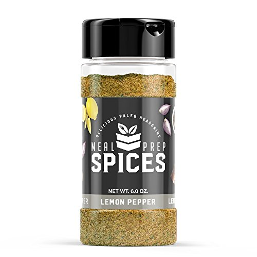 Meal Prep Spices Lemon Pepper Seasoning - Paleo, Kosher, and Gluten Free - One (1) 6oz Bottle