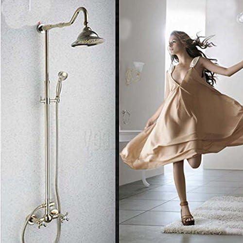 "YASE-king ハンドヘルド、クリアで蛇口新8"" 雨ヘッドゴールドシャワー蛇口セット浴室のシャワー浴槽ミキサータップ"