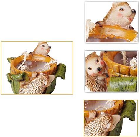 バスケットバルコニー肉質用品をぶら下げクリエイティブ小動物フラワーポットハリネズミガーデンコートヤード装飾ロープをハンギングハンギングプランター、