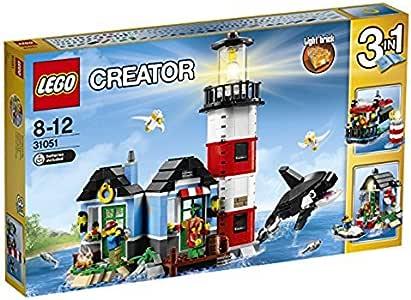 LEGO Creator - Isla del Faro, Juguete de Construcción 3 en 1, Incluye Figuras de Animales Marinos (31051): Amazon.es: Juguetes y juegos