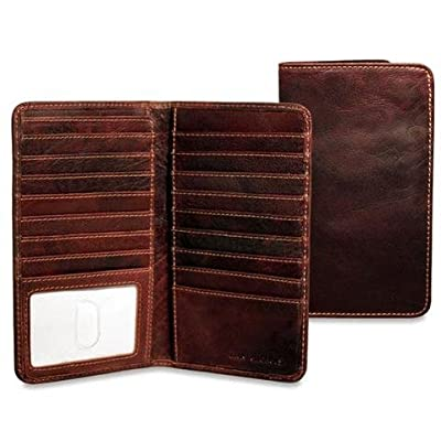 Jack Georges Mens Voyager Slim Breast Secretary Wallet