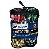 Champro Training Baseballs, Set of 6 (Red/Maroon/Green/Yellow/Blue/Black, 9-Inch)