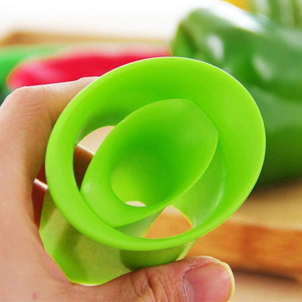 Fovely 2 pcs//Set Multifonction Cuisine Poivron Vert Tomate Corers Fruits L/égumes Noyau Remover Outil Cuisine Accessoires