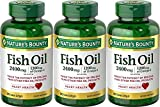 Natures Bounty Fish Oil 2400 mg Double Strength Odorless 90 Softgels (Pack of 3) For Sale