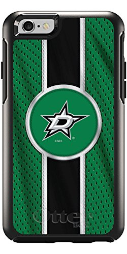 Coveroo Symmetry Series Cell Phone Case for iPhone 6 - Retail Packaging - Dallas Stars Jersey Stripe (8599 Series)