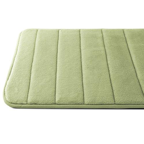 Caravalli Memory Foam Bath Mat, Ripon Sage Green Non Slip Bath Rug, 25