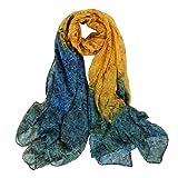 Scarf,Ladies Wrap Shawl,Sarong,Print Beige Ivory Teal Maroon Red,Scarves,ESAILQ classic Women Chiffon Long Soft Wrap scarf Ladies Shawl Voile