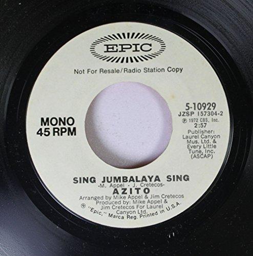 Azito 45 RPM Sing Jumbalaya Sing / Sing Jumbalaya Sing