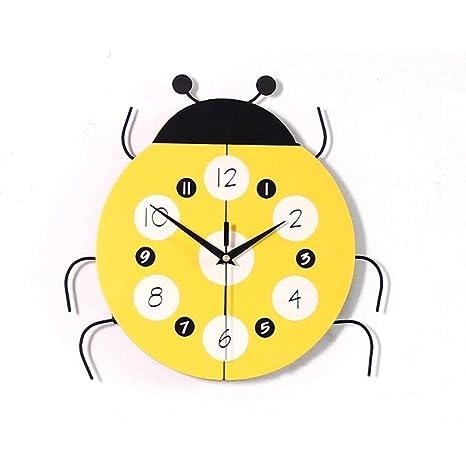 LKOPSLA Relojes de Pared Reloj de Pared Salón Rural de Estilo Europeo Clásico Reloj Digital de