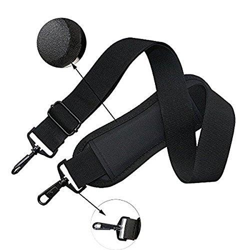 PIXNOR Correa de hombro acolchada ajustable con gancho para las bolsas carteras maletas negro