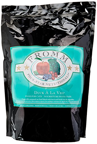 Fromm Four-Star Duck a La Veg Dry Dry Cat Food, 5-Pound Bag (Fromm Duck)