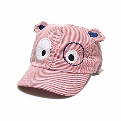 (Tloowy Clearance! Toddler Infant Baby Boy Girl Cartoon Dog Sun Hat Baseball Cap Beret Hat Summer Sun Protection Hat (Red))