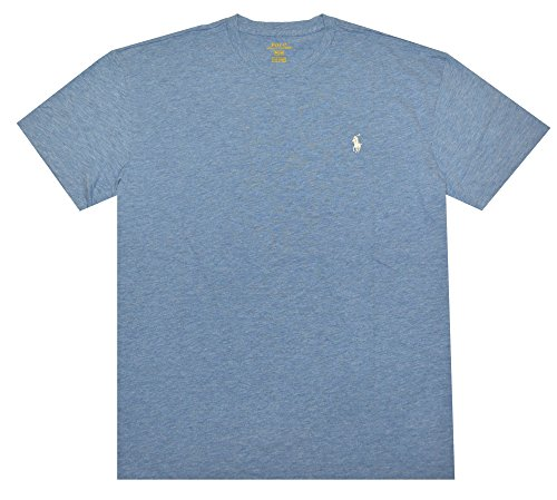 Polo Ralph Lauren Men's Crew-Neck Pony Logo T-Shirt Classic Fit (X-Large, Delta Blue)