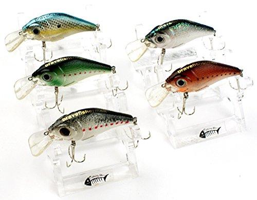 Bravefishermen-Minnow-CrankBaits-Lot-of-5pcs-Fishing-Lures-Nature-Color-Tone