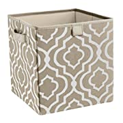 ClosetMaid 16088 Premium 2-Handle Storage Bin, Graystone Print