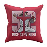 500 LEVEL's Mike Clevinger Soft And Comfortable Throw Pillow For Cleveland Baseball Fans - Mike Clevinger Game W
