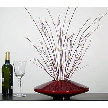 Green Floral Crafts 14 Inch Red Bamboo Zen Vase & Floral