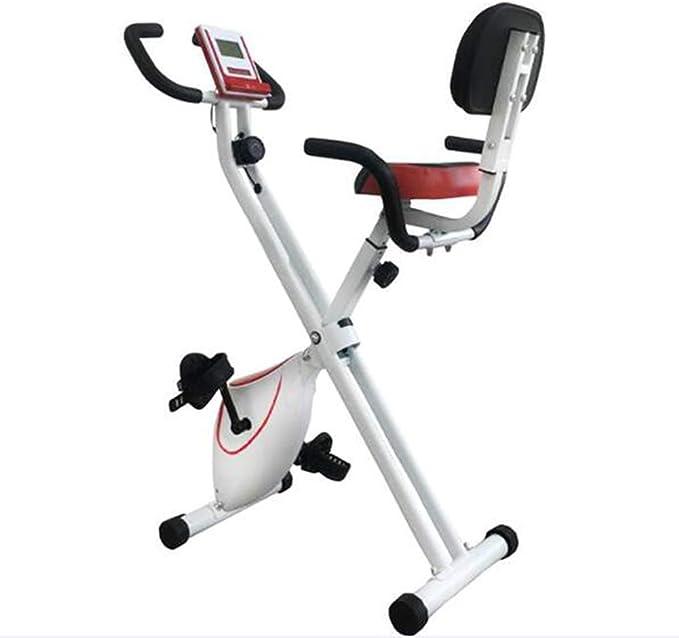 QLGRXWL Bicicleta estática, Home Trainer con Respaldo, Plegable ...