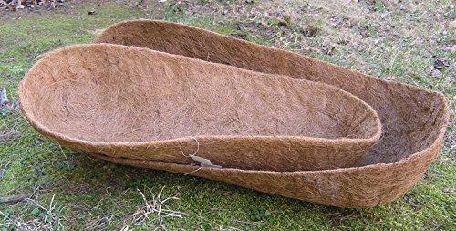 30'' Molded Trough Coco Liner - 30'' L x 12'' W x 7'' D by Garden Artisans