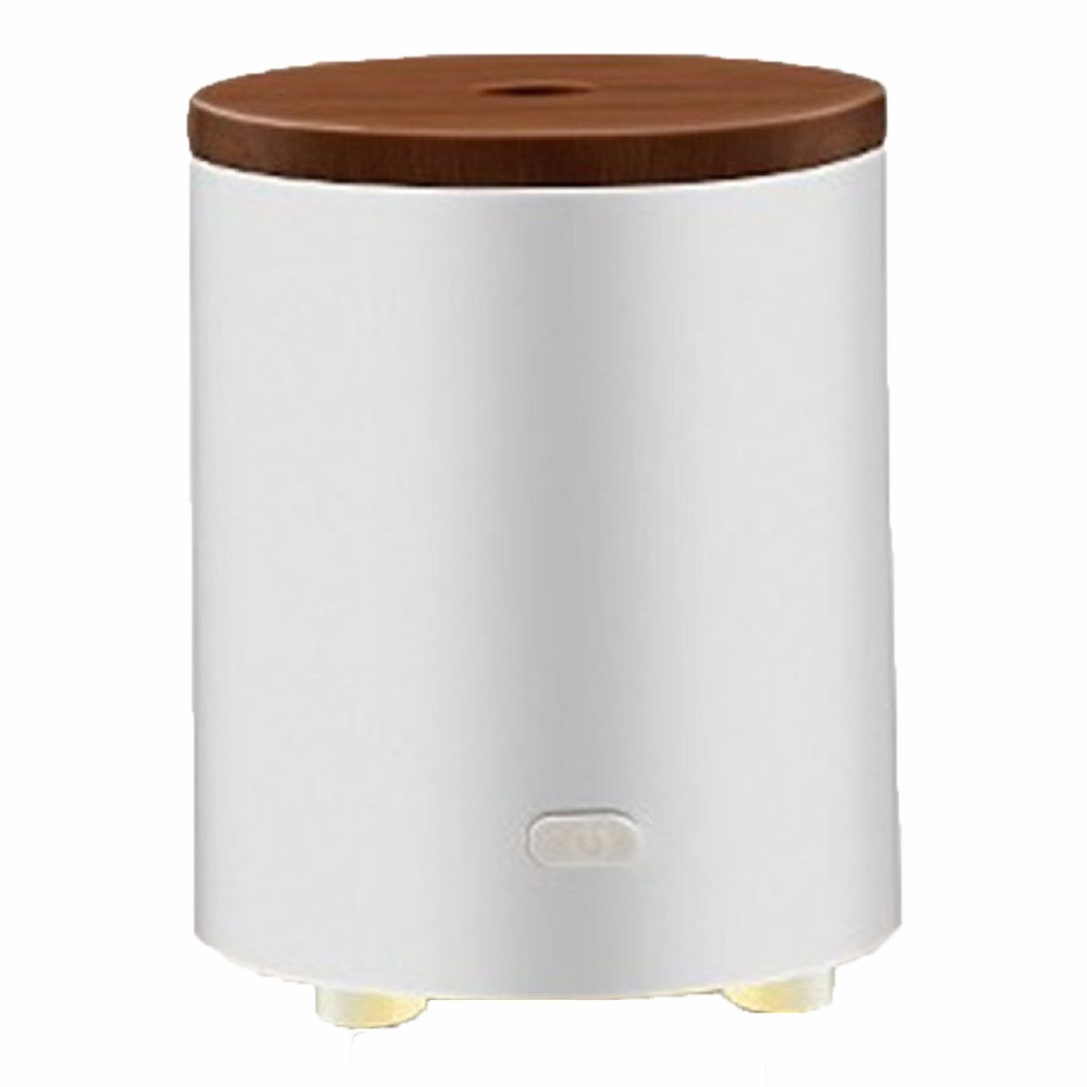 Ultraschall Luftbefeuchter Aroma Diffuser USB Solid Wood Cover Battery Car Aromatherapy Machine Home Office Humidifier,White