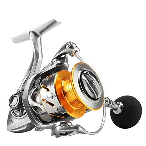 (SeaKnight Rapid Saltwater Spinning Reel, 4.7:1,6.2:1 High Speed, Max Drag 33Lbs, Smooth Fresh and Saltwater Fishing Reel)