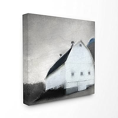 Stupell Industries Painted Barn Grey Sky Canvas Wall Art, 24 x 24, Multi-Color