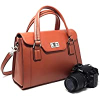 SPECIAL OFFER: Multipurpose Purple Relic DSLR Camera Bag for Women ~ Ladies Handbag with Removable Camera Case