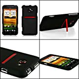 HTC Evo 4g Case Black Rubberized Snap on Case Cover for 4g LTE Only - Retail Packaging