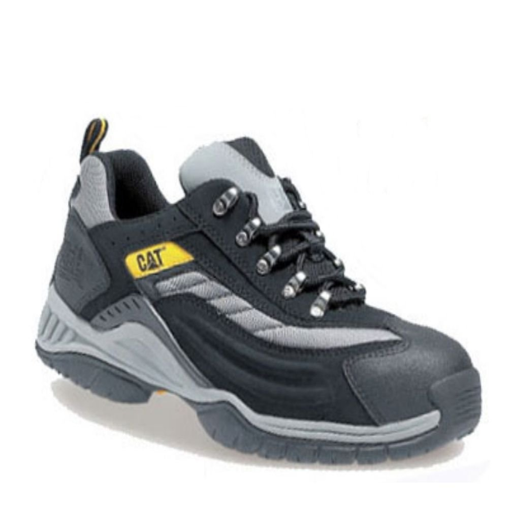 6cba1fc5dd0 Caterpillar Cat Moor SB SRA Mens Black Silver Steel Toe Cap Safety Trainers  PPE