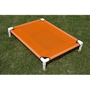 Amazon Com Raised Mesh Pvc Pipe Frame Dog Cot Outdoor