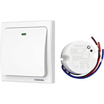 simple wireless switch kit move or add a light switch in any rh amazon com