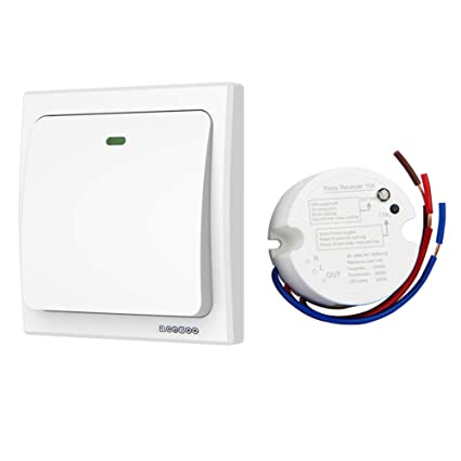 acegoo wireless lights switch kit, no wiring no battery, quick create or  relocate on/off switches