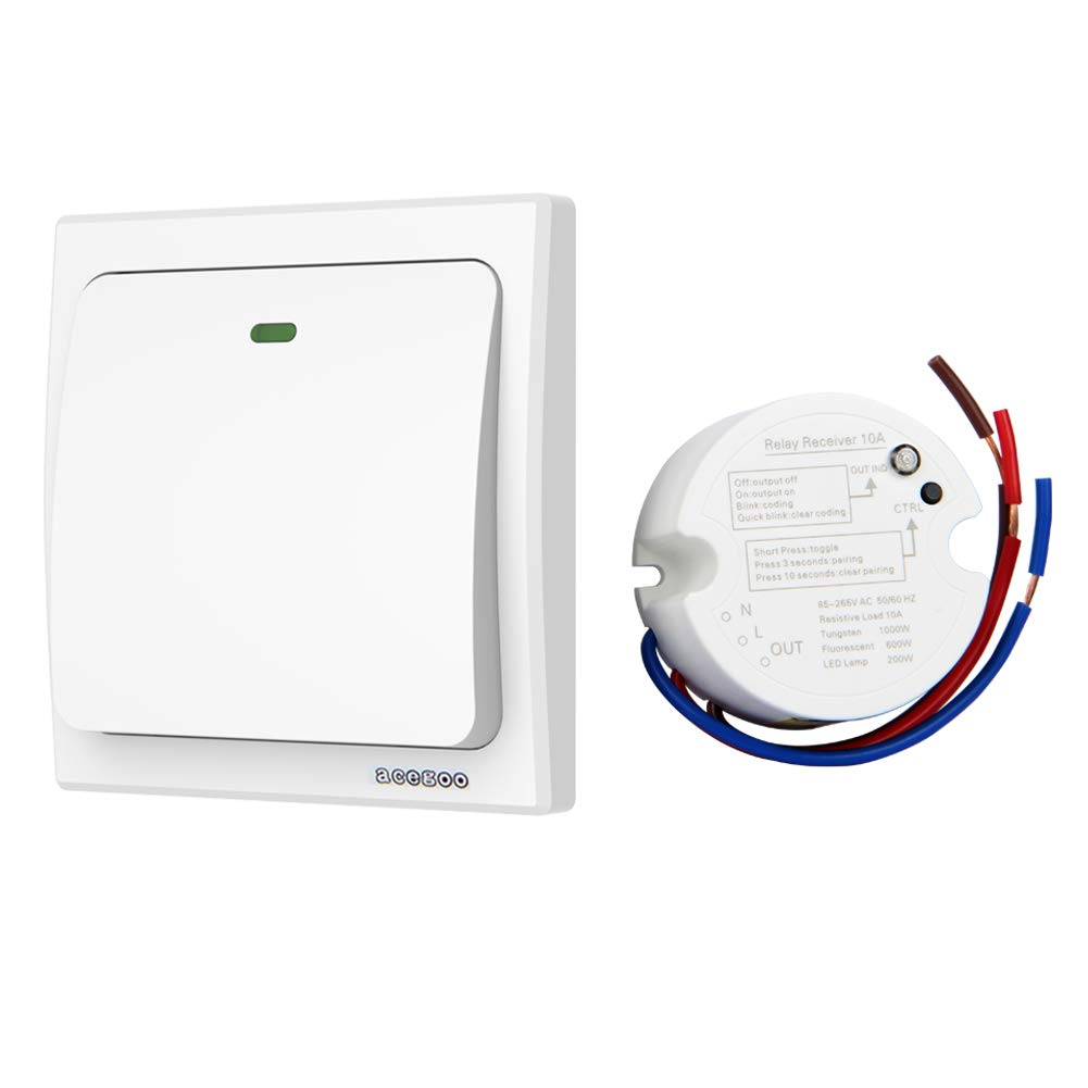 Way 2 Gang Light Switch Wiring Additionally Bathroom Fan Best Rated In Electrical Switches Helpful Customer Reviews Acegoo Wireless Lights Kit No Battery Quick Create Or Relocate On