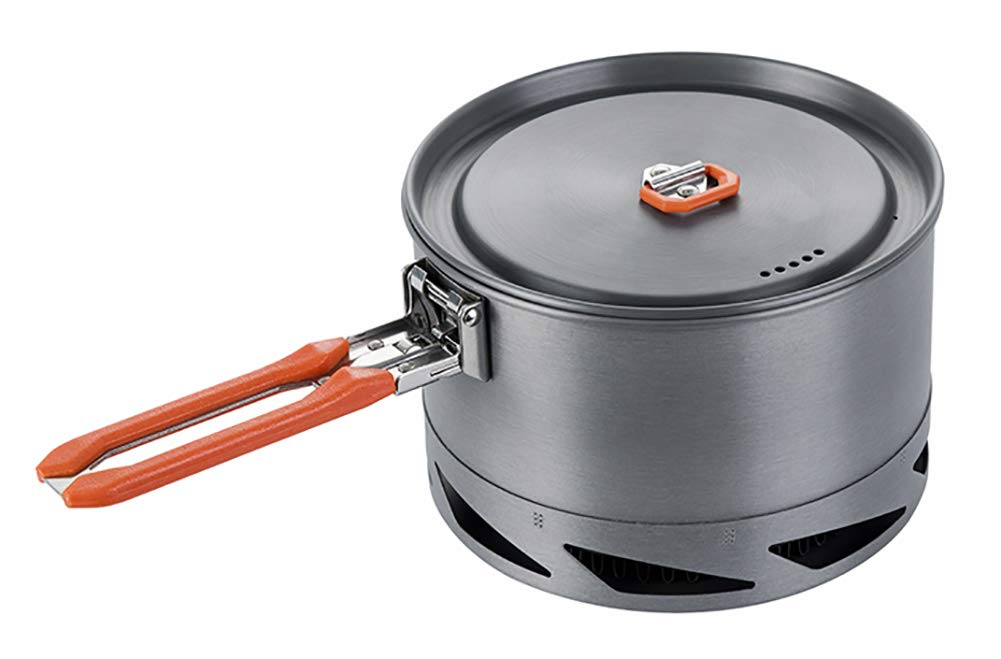 Fire-Maple Feast 1.5L Camping Cookwear Pot FMC-K2 | Easy to Clean Hard Anodized Aluminum and Stainless Steel | Cookware Set and Mess Kit | Camping Essentials & Camping Gear by Fire-Maple