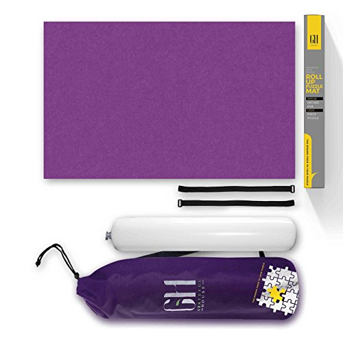GRATEFUL HOUSE Offer Premium ROLL UP Puzzle MATS for Jigsaw Puzzles. Beautiful Purple Felt lays Perfectly Flat Comes Rolled/not Folded. Fits 500 1000 1500 Piece Jigsaw Puzzles. Size 46 x 26 inches