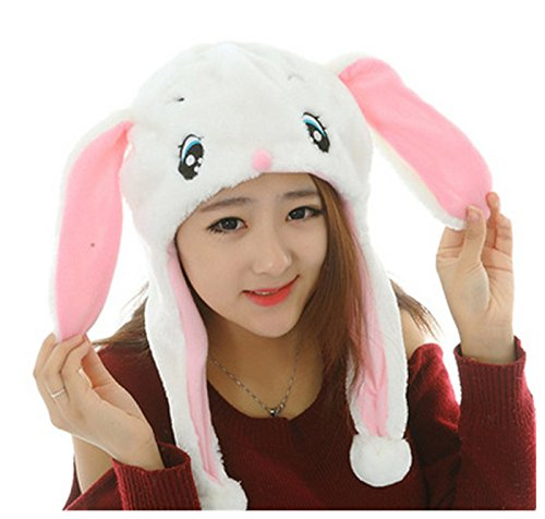 Funny Short Plush Multicolor Halloween Festival Party Creative Stereoscopic Forest Steppe Animals Mardi Gras Party Costume Hat (Cute White (Cute And Creative Costumes)