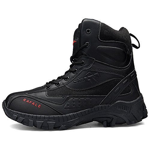 YIRUIYA Men's Outdoor High-Top Lacing up Waterproof Trekking Hiking Boots