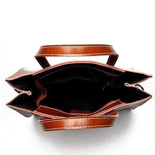 à Sacs pour couleur fourre en Diagonal élégants Marron Sac cuir bandoulière Marron avec Jxth sacoche cire femmes en tout fAH5qq
