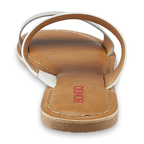 Bongo Mujeres Leah Sandal Blanco / Gris