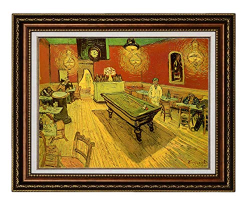 Eliteart- The Night Cafe with Pool Table by Vincent Van Gogh Oil Painting Reproduction Giclee Wall Art Canvas Prints ()