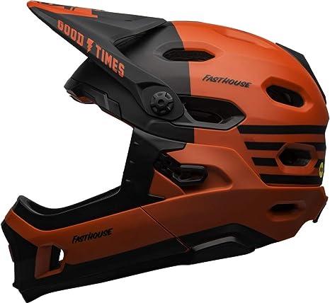 BELL Super DH MIPS Casco para Bicicleta de montaña, Rojo Mate y ...