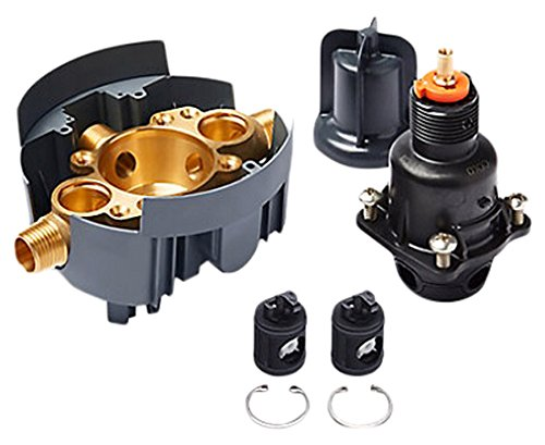 Kohler K-P8304-KS-NA Universal RITE-Temp PB valve body and pressure-balance cartridge kit with service stops, project pack ()