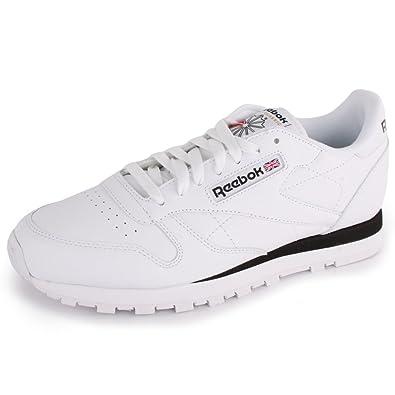 341a138510e Reebok Classic Mens Leather Trainers White Black - 10 UK  Amazon.co.uk   Shoes   Bags