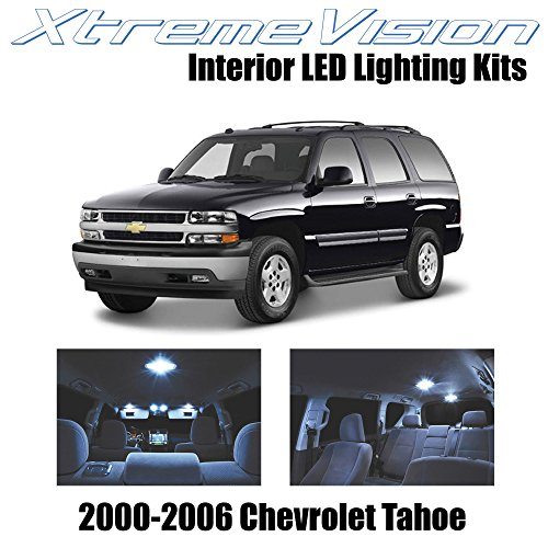 XtremeVision Interior LED for Chevy Tahoe 2000-2006 (18 Pieces) Cool White Interior LED Kit + Installation Tool