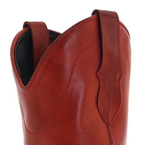 Fashion Fashion Fashion FB FB FB FB Stivali Boots Donna Western Rosso dqrqx7A