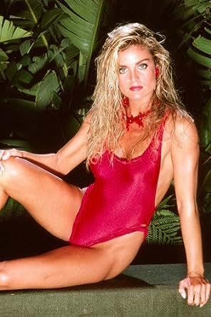 Tracy Scoggins Red Swimsuit Bikini Wet Hair Stunning Pin