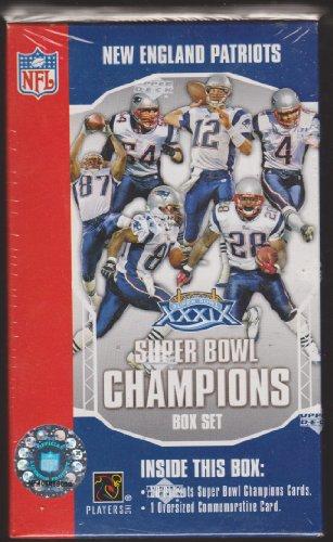 New England Patriots Super Bowl Champion Box Set (50 Patriots Super Bowl Cards 1 Oversized Commemorative