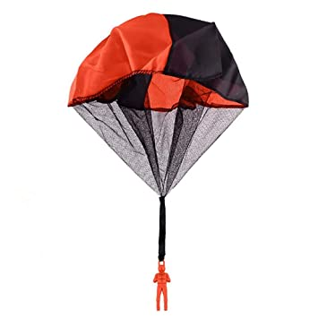 BonZeaL Hand Throwing Learning Educational Orange Mini Soldier Parachute Toy Birthday Gift For Kids Children Boy